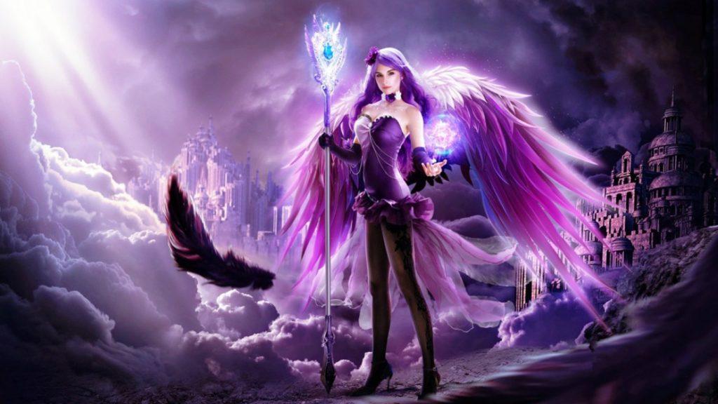 Adventi angyalok- Advent negyedik Angyala- Lila angyal